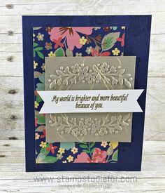 Just in CASE Affectionateley Yours Designer Paper & Floral Effection Embossing Folder by Stampin' Up!  my CASE 2 www.stampstodiefor.com