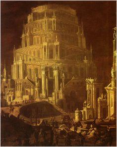 """Monsu Desiderio - """"La Torre de Babel"""""""