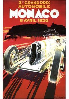Affiche Publicitaire (21 X 29,7 cm) Repro - GRAND PRIX MONACO | eBay
