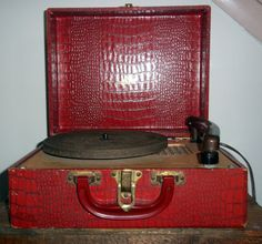 1971 Ge Wildcat Portable Stereo Phonograph Portable