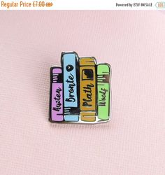 SALE Literature Ladies Enamel Book Pin Book Enamel Pin