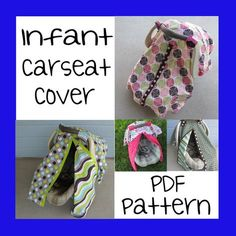 Infant Car Seat Cover - PDF Pattern - Sew your own  sc 1 st  Pinterest & Finally! A blog with instructions on how to add the front opening ...
