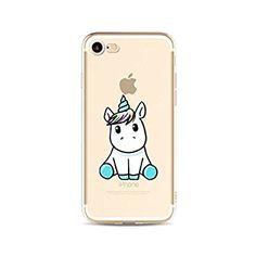 MUTOUREN iPhone 7 (4.7 Zoll) Hülle Schutzhülle Handy TPU Silikon Hülle Ultra dünne Case Cover Durchsichtig Gel Tasche Bumper Schale - Einhorn Baby - Motif 04