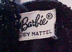 Vintage Barbie clothes tag
