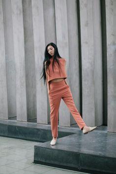 Mango crop top + pants