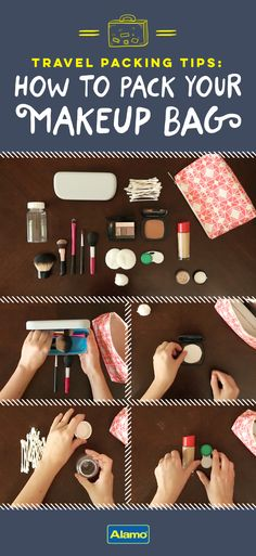 34 Packing Hacks For Make for The Best Trip Ever : Packing Hacks for Travel - Pack Your Make-Up Bag - How to Pack and Fold Clothes, Save Space in Suitcase - Tips and Tricks for Shoes, Makeup, Toiletries, Carry On Luggage for Trips