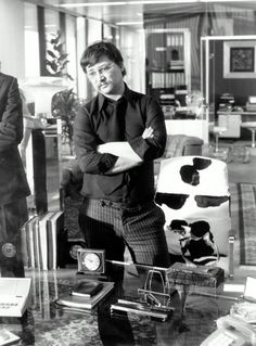 "Rainer Werner Fassbinder on the set of ""World on a Wire"" 1973"