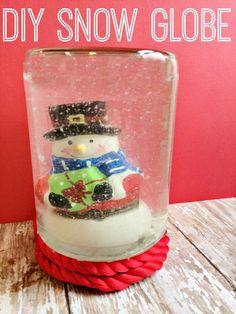 Easy DIY Snow Globe Tutorial for  Kids