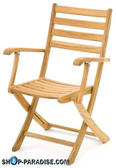 SHOP-PARADISE.COM:  Складной стул с подлокотниками Rivula, Тиковое Дерево 189,99 €