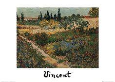Flowering Garden with Path by Vincent Van Gogh art print