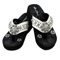 972977f52017e Bling Bling Rhinestone Collection Flip Flops Biege 6     For more  information