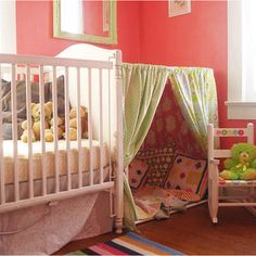 DIY kids tent. Just what I need for the girls' room! :) PERFECT! Getting started on this asap!