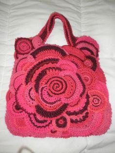 Sac freeform crochet par Sueza