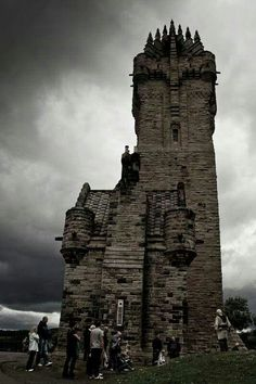 The national Wallace monument in Stirling, Scotland.