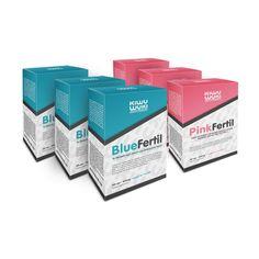 AKCIA - BlueFertil a PinkFertil - Partnerská trojmesačná kúra - vitamíny pre podporu plodnosti muža a ženy