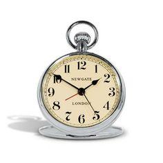 Chrome Pocket Watch - Travel Clock Newgate Clock www.theroyalgallery.co.uk/index.php?location=item&item=327&art=Clocks&source=2