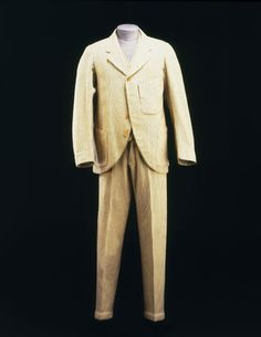 Victoria and Albert Museum: 1890s boating suit; Striped jackets were originally worn for cricket, tennis and rowing and became fashionable for seaside wear during the 1880s. The infiltration of sporting dress into informal styles of clothing shows how social conventions were relaxing in the late 19th century.