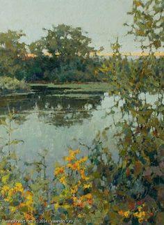 The Povrakulka River - oil, canvas, Yuri Vasendin
