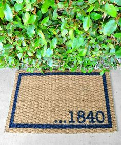 Love this Hand-Painted Address Number Personalized Doormat by ReinventingOrdinary on #zulily! #zulilyfinds