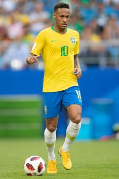 Neymar Jr of Brazil in action during the 2018 FIFA World Cup Russia. 6f72d8e6d8959