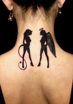 Angel/Devil _ Gemini tattoo