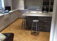 Amtico Signature American Oak herringbone style wood block - Lightwater kitchen