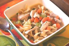Vegetable Chicken Noodle Soup recipe by Barefeet In The Kitchen