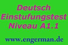 Deutsch Einstufungstest Niveau A1.1