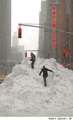 Winter in New York City is so much fun...NOT