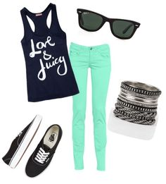 Love colored jeans:)