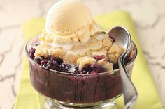 Blueberry fruit cobbler