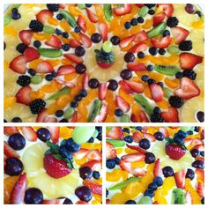 fruit art healthy fruit pizza recipe easy