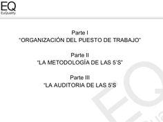 """Parte I""""ORGANIZACIÓN DEL PUESTO DE TRABAJO""""               Parte II     """"LA METODOLOGÍA DE LAS 5'S""""                Parte II..."""