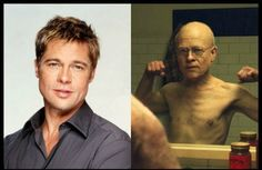 Brad Pitt starred in The curious case of Benjamin Button Checkout some of our favorite movie makeup transformations! Amazing Makeup Transformation, Michael Chiklis, The Stranger Movie, Movie Makeup, Cinema, Cute Dog Pictures, Music Film, I Cool, Brad Pitt