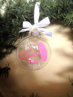 Personalized Christmas Ornament Cheerleader by dreamingdandelions ...