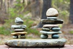 Outdoor Party Food Display | ... , miniature inukshuk sculptures for summer party table decoration