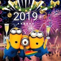 Happy new year 2019 - Minions - halloween quotes Happy New Year Images, Happy New Year Greetings, New Year Wishes, Happy New Year 2019, New Year Card, Happy New Year Quotes Funny, Happy New Year Minions, New Year Wallpaper, Quotes About New Year