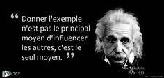 Albert Einstein Quotes : Donner l'exemple Citation Einstein, Quote Citation, Albert Einstein Quotes, Lead By Example, Famous Movie Quotes, E Mc2, Positive Affirmations, Sentences, Infographic