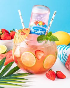 Mixed Drinks Alcohol, Alcohol Drink Recipes, Punch Recipes, Mixed Drink Recipes, Fun Summer Drinks Alcohol, Summer Mixed Drinks, Liquor Drinks, Cocktail Drinks, Cocktail Recipes
