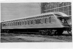 "Back end of the streamlined train ""Hiawatha"""