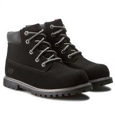 Turistická obuv SKECHERS - Mitigate 93163L/BLK Black Skechers, Hiking Boots, Shoes, Black, Fashion, Walking Boots, Moda, Zapatos, Black People
