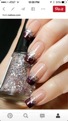 tips gel nails colored ~ tips gel nails . tips gel nails at home . tips gel nails colored . tips gel nails ideas . gel nails with tips . gel nails ideas spring french tips . nails spring gel french tips . diy gel nails at home tips Sparkly Nails, Metallic Nails, Glitter Nail Art, Fancy Nails, Cute Nails, Pretty Nails, Silver Glitter, Gorgeous Nails, Glitter French Nails