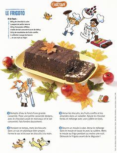 Le frigoto : un super gâteau au chocolat qui n'a pas besoin de cuisson (recette extrait du n° 846 du magazine Astrapi, octobre 2015, pour les enfants de 7 à 11 ans)