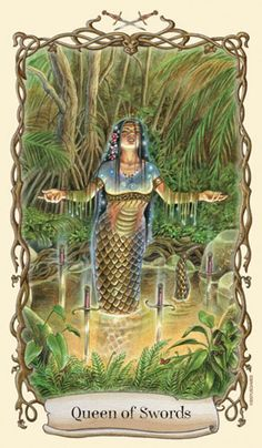 Fantastical Creatures Tarot - Queen of Swords