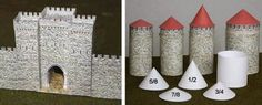 PAPERMAU: Castle Facade And Towers Paper Models - by Norbtach