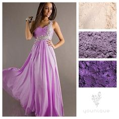Lilacs, violets, and shades of purple add drama and a hint of sweetness. Www.youniquebykaranna.com