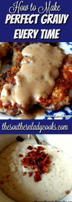 This is the way to make perfect gravy. You can make half of this recipe or you can double or triple to make more. You can add whatever kinds of spices you