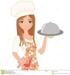 Illustration about Woman chef with covered serving dish. Illustration of woman, covered, serving - 57754819 Cartoon Chef, Girl Cartoon, Rose Flower Png, Food Background Wallpapers, Logo Online Shop, Chef Logo, Dream Drawing, Cake Logo Design, Female Cartoon Characters