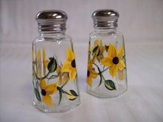 Salt and Pepper Shakers hand painted with by Morningglories1, $10.00