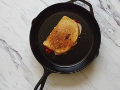 Panini : You can either grill sandwiches inside your skillet, or use the weight of your skillet to weight down sandwiches as you grill them. It's a win either way.